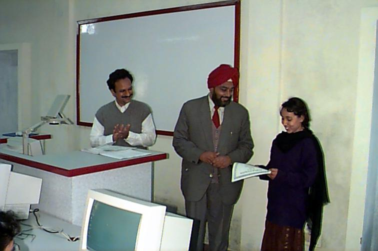 Picture of Student receiving certificate